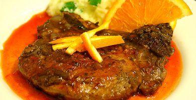 Receta de carne en salsa de naranjas con olla express