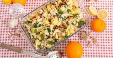 receta patatas con bacalao
